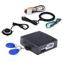 إنذار الأمن Tioodre السيارات مكافحة سرقة نظام محرك السيارة دفع بدء زر RFID قفل الإشعال كاتب توقف منع الحركة زر واحد 1