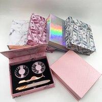 Пользовательские пакет коробки зеркала волшебные каникула для глаз с аппликаторами натуральные 25 мм драматические ресницы жидкие лайнер для глаз на заказ упаковки