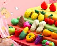 Mini cartone animato cartone animato carino fruit fruit and vegetale set creativo studente tridimensionale speciale senza lasciare un segno di scuola materna