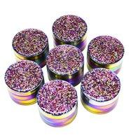 New Colorful Herb Grinder 50mm 52mm 55mm 4 strato Ice Blue Metal Ginder Ginder Diametro in lega di zinco Diametro economici tabacco smerigliatrice per erba secca