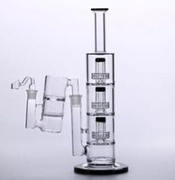Tubos de agua de vidrio con cuenco Catcher Bowl Oil Rig Perc Tobacco Triple Birdcage Recycler Bubbler Percolator Fumar Hookahs 18.8mm Junta