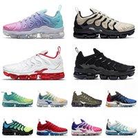 Mejor Calidad 2021 Mujeres para hombre Vapurmax Plus TN Tamaño 13 Zapatillas de correr Luz Triple Triple Negro Metallic Gold TNS Trainers Zapatillas deportivas