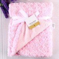 Coral Fleece Blanket Mode Märke Vinter Nyfödd Swaddle Wrap Soft Baby Boys Sängkläder Bebe Girls Anais Sleeping Bags1