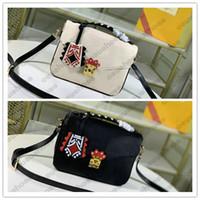 Crafty M45385 Pochette Cross Body Womens Métis Handbags S-Lock Couro PoChette Compras Metis Saco Flor Carta Flap Totes