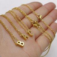 Кулон ожерелья минимальные начальные колье имени ожерелье письма золота a b c d e f g h i j k l m n o p q j j k l m n o p q q u v w x y z женские украшенные украшения