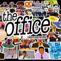 50pcs en gros The Office Stickers Pack non-aléatoire Voiture Bagage Sticker Sticker Portable Skateboard Moteur Bouteille d'eau Bouteille de jouets pour enfants Decal