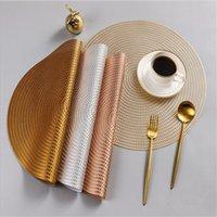 Круглый кухонный стол Пластина коврик сплетенные сушильные блюда Coaster PAD PVC бытовые размещения столовые посуды против тепла нескользящие коврики для чаши 122773