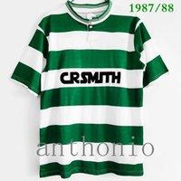 1987/88 Celtics Retro-Fußball-Trikots grün 1992/93 Vintage-Fußball-Hemd Larsson 7 Lambert Viduka Moravcik Mjallby Blinker Größe S-XXL 92/93