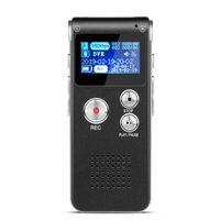Digital Voice Recorder Portátil Tela LCD 8GB Telefone Áudio MP3 Player Detafone