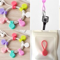 Magnet Headset Style Bobbin Winder Mobile Phone Magnetic Attraction Data Line Multifunction Cord Clip Silicone Originality Hot Sale 1sl M2