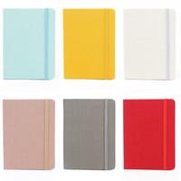 A5 Business Leather Caderno Escrita Notepad Papelaria Diário de Viagem Jornal ao ar livre Planejador de agenda com fechamento elástico bandado