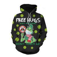 8 Colour S-5XL 2021 Nueva Moda Navidad Grinch Geek Virus Anime Sweater 3d Cosplay Hoodie Top Pullover Casual 40633474235112