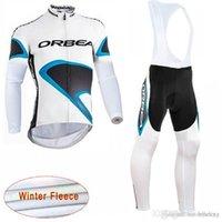 Orbea Takımı Bisiklet Kış Termal Polar Jersey Önlük Pantolon Setleri MTB Bisiklet Süper Sıcak Bisiklet Uzun Maillot Yeni S21012984