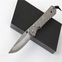دمشق كريس ريف سبائك التيتانيوم مقبض BM41 BM42 BM43 a16 a161 a162 a163 بقاء التخييم الصيد سكين للطي الحرف جمع سكين