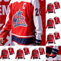 콜럼버스 블루 자켓 Patrik Laine 2021 Reverse Retro Hockey Jersey Seth Jones Zach Werenski Cam Atkinson Joonas Korpisalo Emil Bemstrom