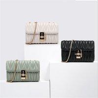 Высококачественные сумки Bolso Женская осень и зима маленькая квадратная корейская версия плечевой цепочки повседневная складная сумка Topbagwomen