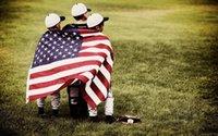 Bandera estadounidense estadounidense de 3x5 pies - color vivo y resistente a la fadena UV - Poliéster (doble cara) banderas nacionales de USA con ojales de latón KKA2708-1