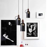 Artpad Post-Modern Lampe Schwarz und Gold Einzelne Bar Pendelleuchten Industriestil Rotierende Lampen Hängen Licht für Tuch Shop Café E27