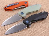 0456 Flipper Cuchillo de cuchilla plegable 9CR18MOV SATIN BLADE G10 Manejar Cuchillo de bolsillo EDC con paquete de caja al por menor