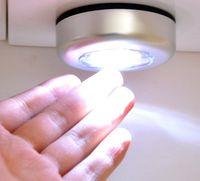3led 4 conduziu 4 diodo emissor de toca sem fio guarda-roupa toque lâmpada de luz lâmpada de luz home cozinha sob armário armário push tap stick na lâmpada