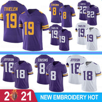 18 Джастин Джефферсон Мужские трикотажные изделия 19 Adam Thielen Danielle Hunter Dalvin Cook Harrison Smith Diggs Cousies Rudolph Mailoots de Football