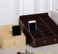 Aula Riunioni Sala riunioni rack Mobile Phone Box Multi Grid Box di archiviazione in legno Multi Funzione Scatole di immagazzinaggio
