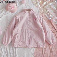 Joinsouth Abbigliamento su entrambi i lati Donne Cappotto Allentato Harajuku Vintage Giacca calda Femme Roupas Autunno Capispalla invernale 7a999 201106