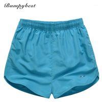 Pantalones cortos para hombres BumpyBeast Secado rápido Hombres Mujeres Black Board Sólido Ligero Mens Traje de baño Malla Playa Troncos Bermudas1