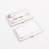 بطاقات التسامي اسم بطاقات اسم مربع الفولاذ المقاوم للصدأ diy مستطيل بطاقة مقعرة حالة طباعة الأزياء بطاقات الحيوانات مهرجان حزب هدايا 4 4MO N2