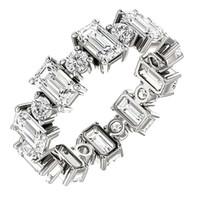 Choucong Brilliant 5A CZ Diamant Party Frauen Verlobungsringe Versprechen Zubehör Für Liebhaber Feine Geburtstagsgeschenk Dame Trendy Schmuck Ring Geschenk