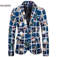 Miicoopie 2019 homens blazer moda engraçado estilo de Natal impressão blazer para homens1