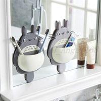 Diş Fırçası Duvar Montaj Tutucu Sevimli Totoro Enayi Emme Banyo Organizatör Aile Araçları Aksesuarları DHL Ücretsiz Navlun