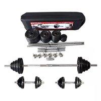 شحن مجاني 50kg الطلاء قابل للتعديل الحديد الدمبل مجموعة للياقة البدنية رفع الاثقال معدات رياضة قوة العضلات
