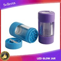 Led Glow Jar Storage Container with Bottom Grinder 155ml Sta...