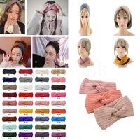 36 colores hecha punto ganchillo diadema mujeres invierno deportes hairband turban yoga cabeza cabeza oreja muffs tapa diademas DB269