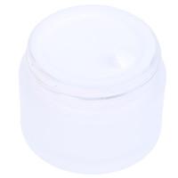 Frasco frasco de vidro fosco cuidados com a pele creme de olho frascos pote recarregável recipiente cosmético recipiente com madeira de grão de madeira 5g 10g 15g 30g 50g ppc3512