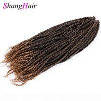 Синтетическая Предварительная скрученная бомба весенние поворотные волосы 24 дюйма страсть крючки крючком волосы 100 г ПК синтетические наплетения волос наращивание волос страсть