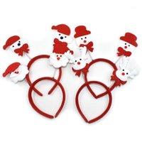 6 PCS Bonito Headband do tema de Natal Santa / Boneco de neve / veado / urso / não tecido Crianças Cabeça Cabeça Xmas Presente Casa Decoração 5ZDZ6941