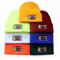 2021 Горячая среди нас в США Зимняя шапка шансы хлопчатобумажные вязаные шляпы Черепости Beanie Hip Hop Cosplay Cap Открытый Streetwear Hats Новый год Шляпа для фанатов
