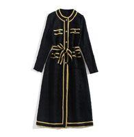 801 2020 Herbst Freies Verschiffen Mantel Mode Frauen Trenchcoats Rundhalsausschnitt Schwarz Langarm Brief Damen Kleidung JQ