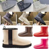 2021 Designer australien Classique Clear Mini Bottes Dune Mini Boucle Australie WGG Femmes Femmes Femmes Femmes Boot De Neige Demi-genou Court 36-42 20 #