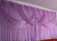 3x6m رومانسية الأرجواني الزفاف الستارة خلفية الستار مع غنيمة مطوي لحضور الزفاف eventpartybanquet decoratio1