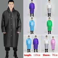 rain jacket One-Piece Raincoat UK Mens Womens Long Waterproof Jacket Rain Coat Hooded Button Raincoat Outdoor BB50YY J1211