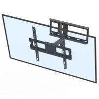 Leadzm 32-60 pollici Pendolo singolo Large Base Base TV TMDD-102 Cuscinetto 35 kg / VESE400 * 400 / Tomaia e inferiore e inferiore a 10-10 gradi Staffa per montaggio a parete TV