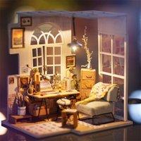 Kits de la casa de muñecas de madera de Robotime para la muñeca Diy Dollhouse Miniatura Mueble Mueble Muebles juguetes para niños Girl Gift LJ200909