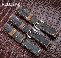 Hauteur de cuir véritable 20mm 22mm 24mm 26mm 26mm Crazy Horse Nubuck Sports Sports En plein air Bande Boucle Strap SQCICG Luckyhat