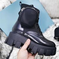 Männer Frauen Black Rois Martin Stiefel Military Inspired 2021 Neue Kampfstiefel Nylonbeutel an dem Knöchel mit Riemen Knöchelstiefel angebracht
