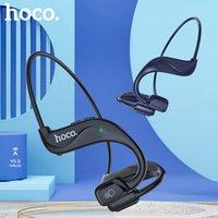 헤드폰 이어폰 HOCO 공기 전도 블루투스 무선 이어폰 스테레오 헤드셋 스포츠 헤드폰 티타늄 방수 실행 운전