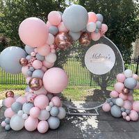 98 cm Balon Tutucu Plastik Balon Aksesuarları Doğum Günü Düğün Balon Tutucu Dekor Balon Kemeri Garland Daire Sütun Baz Y0107