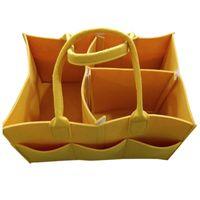 Sacos de fralda de feltro de feltro Camping Shopping de Viagem Saco de armazenamento de bebê com cesta de punho grande capacidade multi bolso portátil